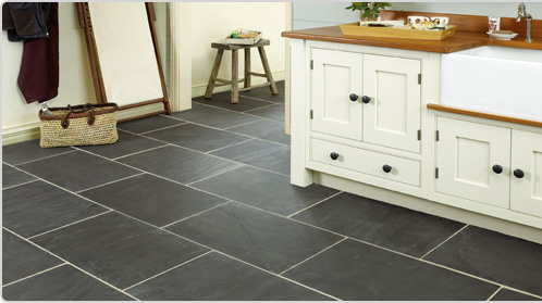 Grey slate tiles for your kitchen