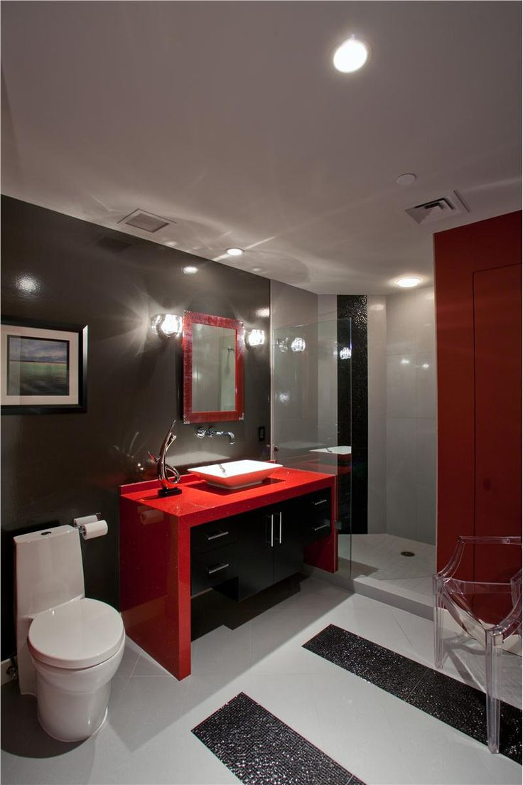 Top bathroom colour ideas kaodim for Red bathroom designs
